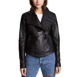 MACKAGE Real Lambskin Asymmetrical Leather Jacket